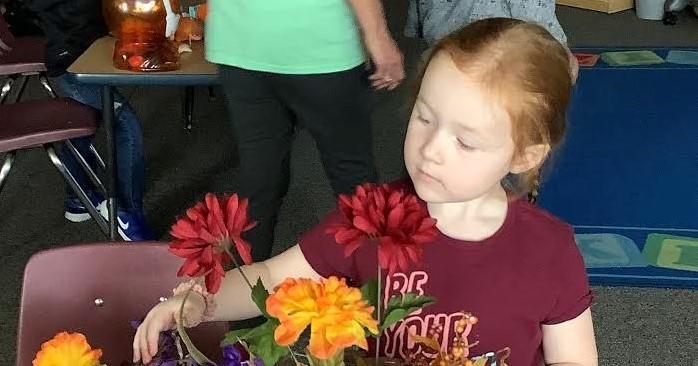 Preschool with flowers