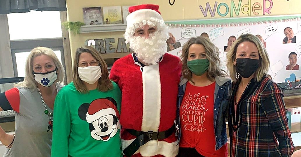 CIS Teachers get a visit from Santa