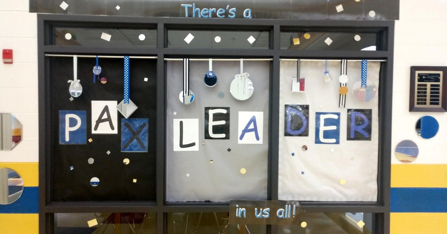 Display says Mirror, Mirror on the wall, there's a PAX Leader in us all.
