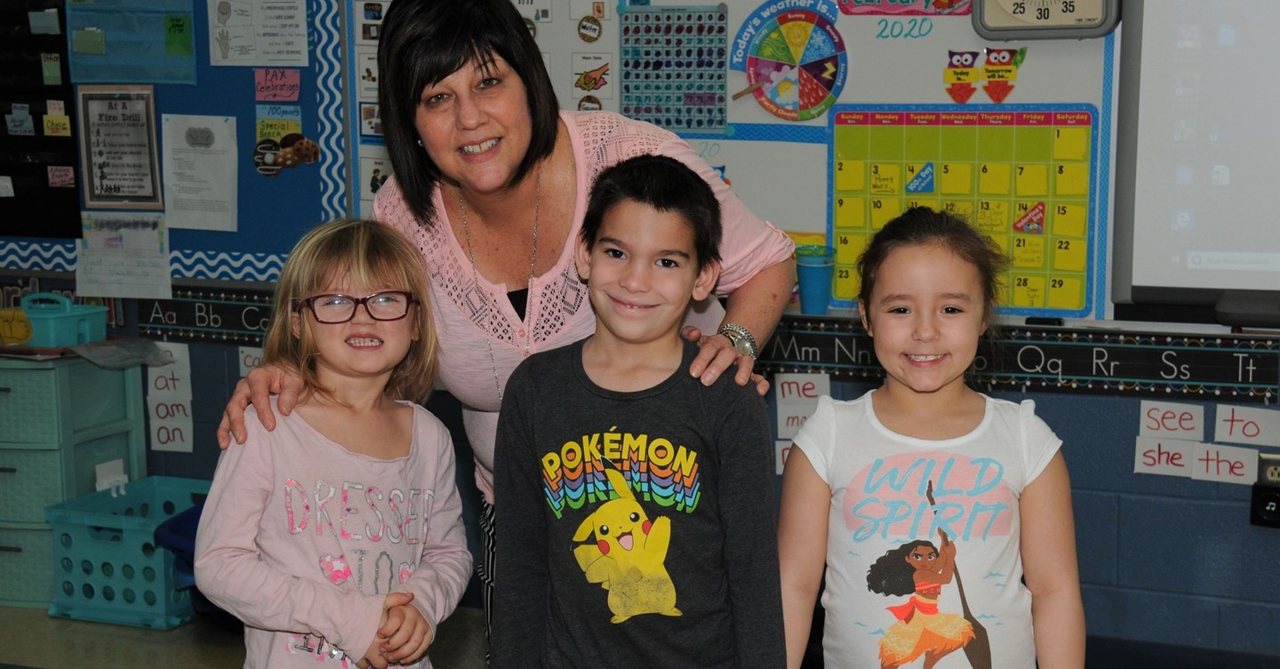 Primary Teacher and students