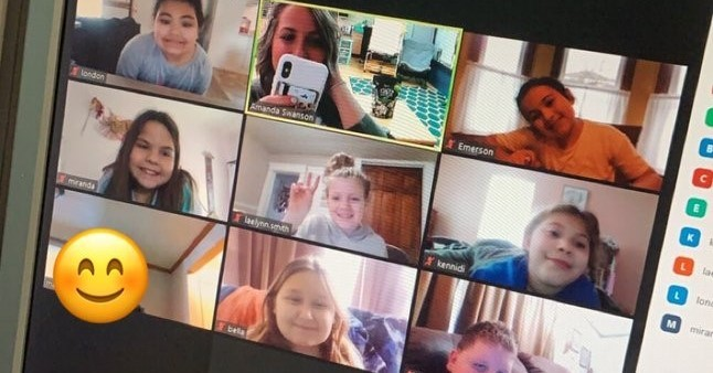 Third graders on Zoom