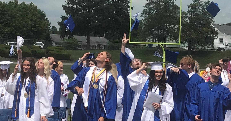 2021 Graduation Cap Toss