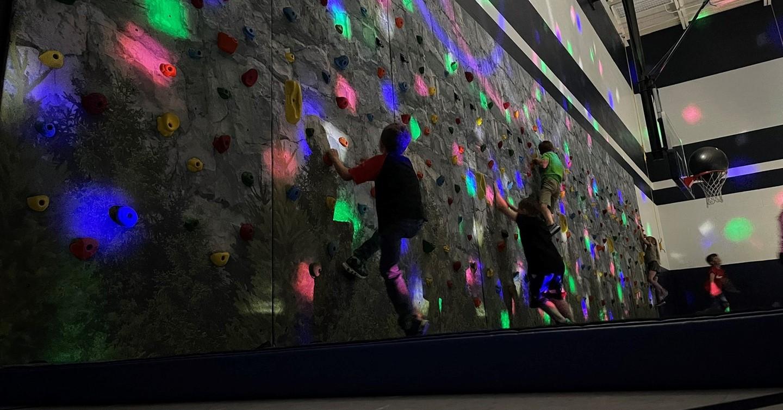Climbing wall in PE class