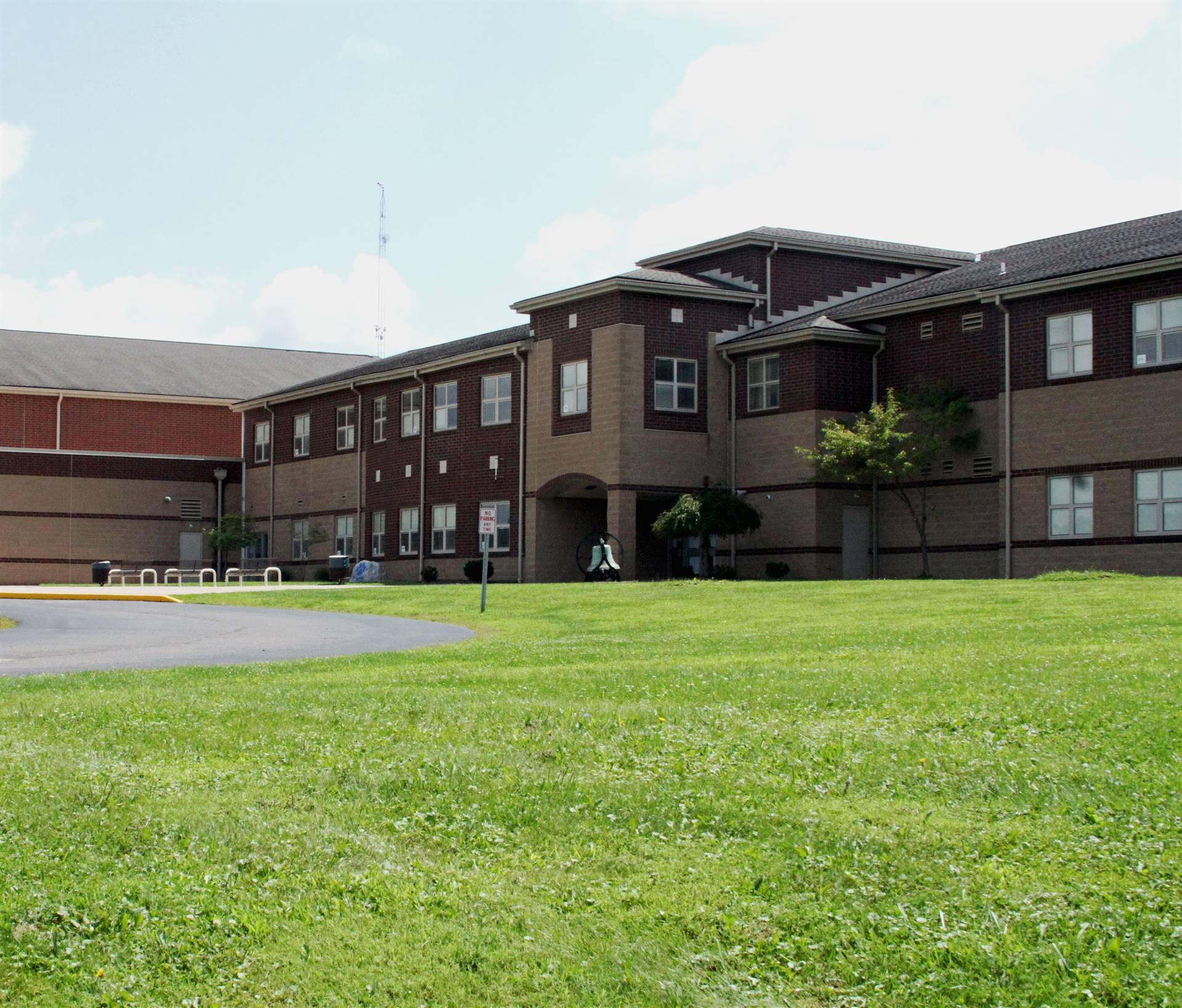 Front of Middle School building
